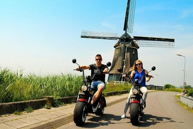 Electric Scooter Private Tour Volendam Marken Hotel pick up and drop off
