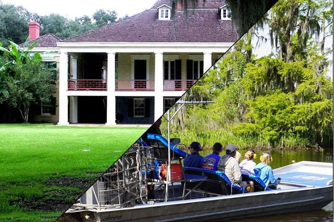 Destrehan Plantation and Large Airboat Tour Combo from New Orleans