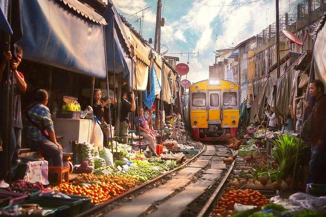 Image result for maeklong railway market