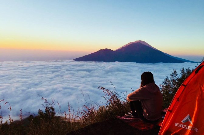 Camping at Summit Mount Batur Sunrise Trekking and Natural Hot Spring