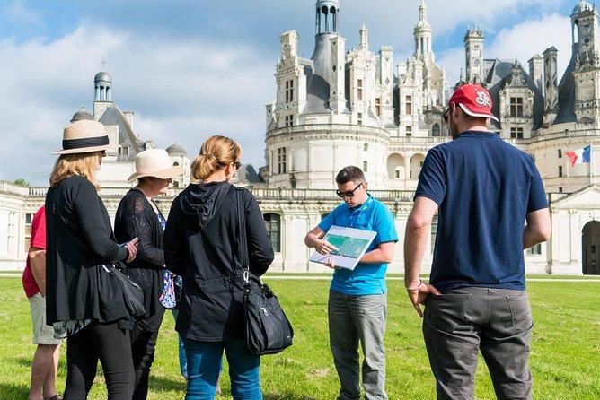 Viagem diurna para grupos pequenos aos três principais castelos do Vale de Loire com degustação de vinhos