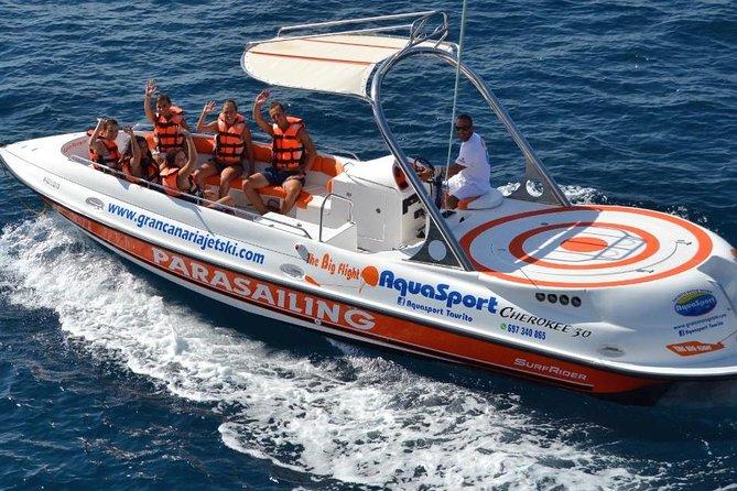 Passenger Boat Parascending In Playa Chica