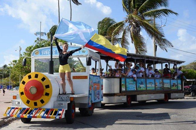 Tour ao redor da ilha de San Andres no Tren Turistico
