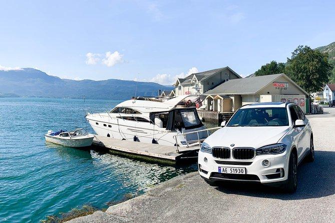 Folgefonna glacier yacht cruise + VIP car transport