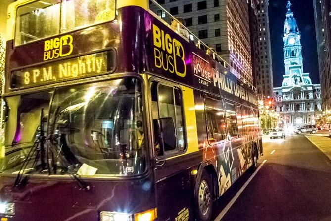 Philly By Night Double Decker Bus Tour
