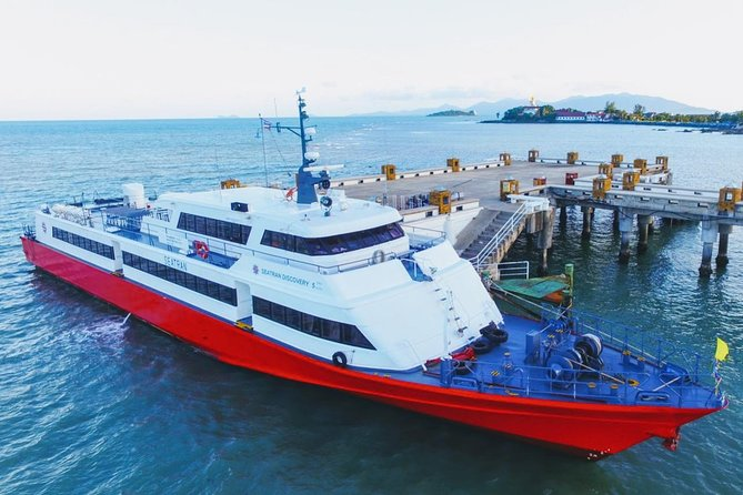 Koh Tao to Surat Thani Town by Seatran Discovery Ferry and Minivan
