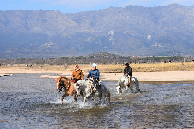 Horseback riding to the Dam