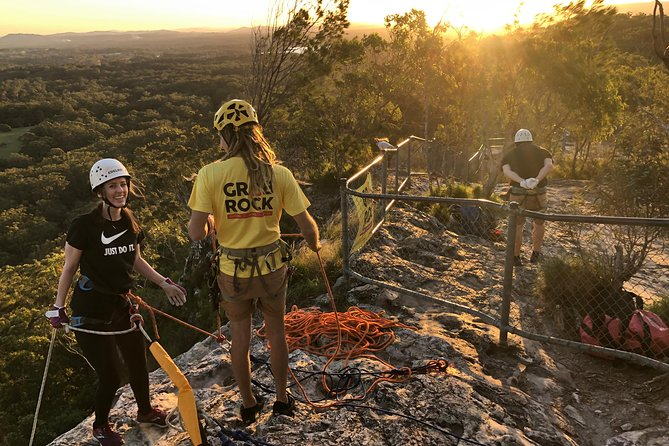Sunset Abseiling with panoramic views of Noosa's Hinterland and Sunshine Coast