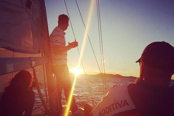 Experience Romantic Sunset under the sails on sail yacht around Hvar-small group