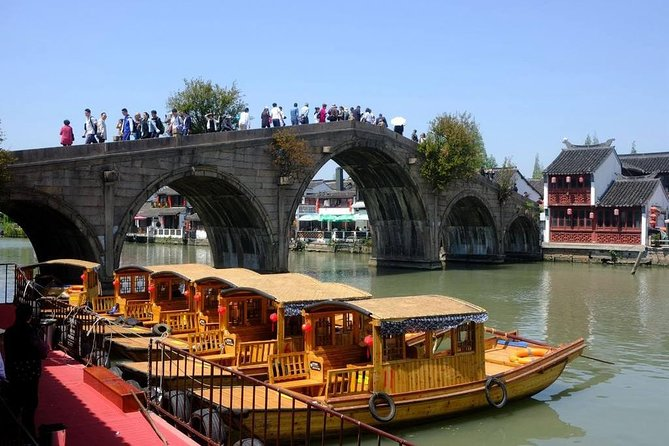 A private full-day tour featuring Qibao Ancient Town and Zhujiajiao Water Town photo 1
