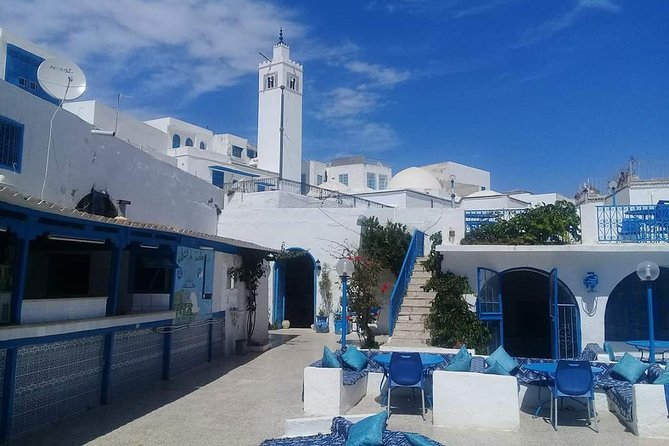 Discovery of the archaeological site Carthage and the Andalusian village Sidi Bou Said