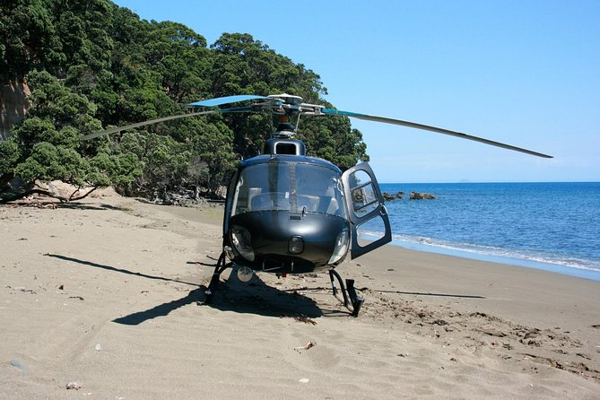 Scenic Coast and Beach Landing Helicopter Flight from Tauranga