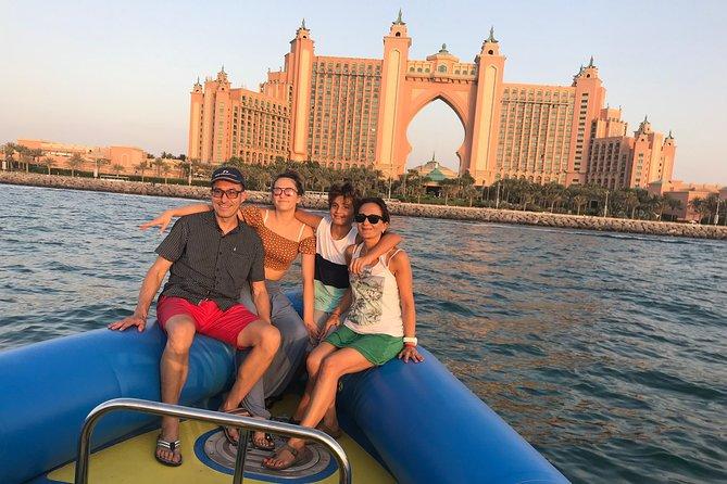 90min Dubai Speed Boat Tour: Burj Al Arab, Atlantis & Palm, Ain Wheel, JBR
