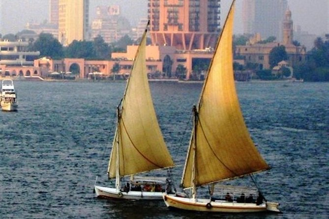 Private Day Tour to Giza Pyramids with Camel-Riding and felucca