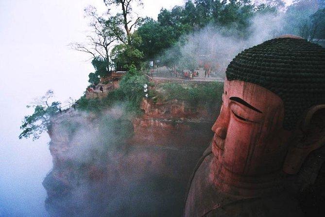 Leshan Giant Buddha option boat Cruiser or Mountain hike to Buddha grottoes
