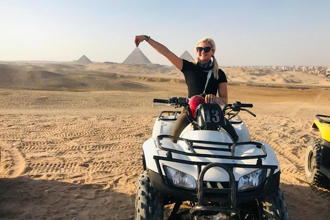 A private ATV Around Pyramids at sunset,Sound and Light Show&with dinner