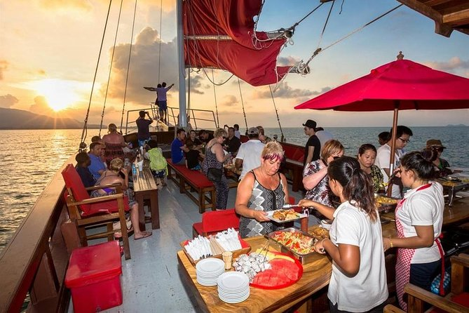 Red Baron Sunset Dinner Cruise from Koh Samui with Return Transfer