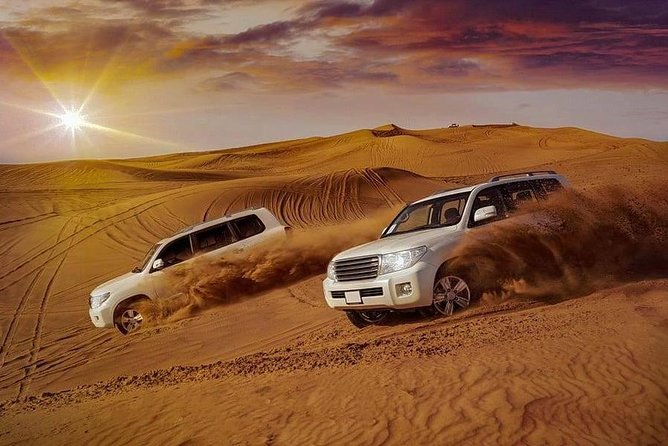 Dubai Evening Desert Safari Tour with Hotel Transfer, Camel Ride & BBQ Dinner