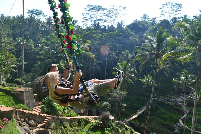 Ubud Monkey Forest - Ubud Market - Swing - Rice terrace - Waterfall
