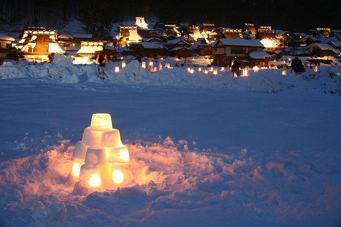 Kyoto Miyama (Snow Lantern Festival) Day Tour from Osaka
