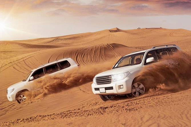 Premium Desert Safari with 45 Minutes of Dune Bashing, BBQ Dinner & Belly Dance
