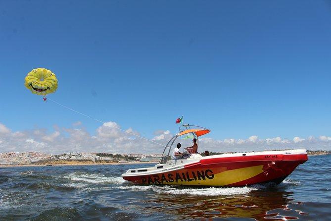 Parasailing Adventure on Albufeira's Coastline!