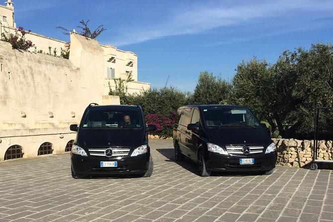 Alberobello, Monopoli, Matera Area to Bari Airport