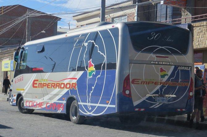 Tourist Bus seats from Uyuni to Potosi with transfer in Uyuni