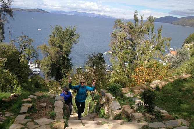 From La Paz:Tiwanacu and Titicaca lake in one day.