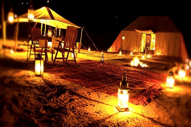 Overnight Desert Safari with Dune Bashing, Belly Dance, Camel Ride and Breakfast