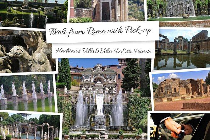 Tivoli from Rome: Hadrian's Villa and Villa D'Este Private Tour With Pick-Up