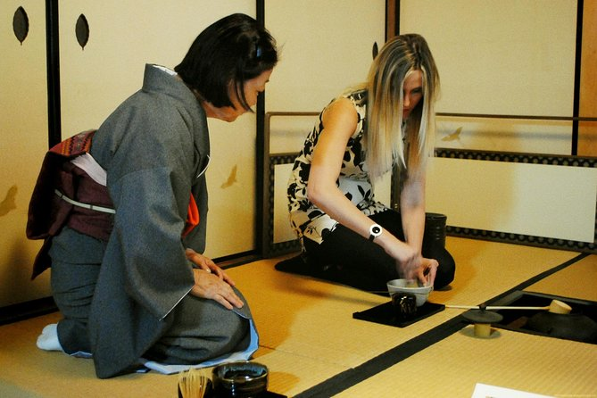 Tea ceremony in a Japanese style room in Nara