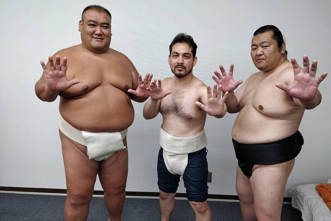 Learn Sumo Culture from a Former Wrestler and wear a real sumo belt near Ryogoku photo 3