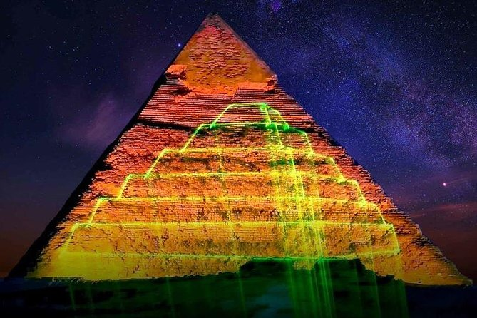 Sound and Light Show at Giza Pyramids From Cairo