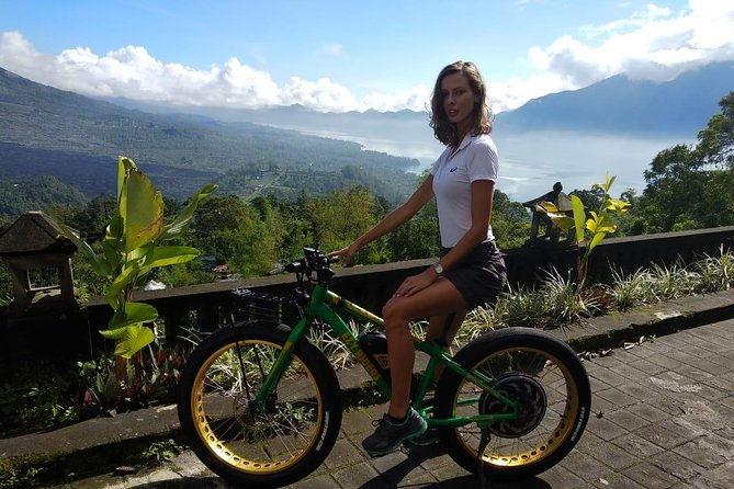 Kintamani Mountain Lakeside E-Bike Half Day Tour (optional) Hot Springs
