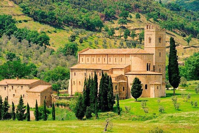 Gita di una giornata da Siena a Montalcino e all'abbazia di Sant'Antimo con degustazione di vino inclusa