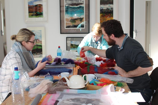Creative fabric workshops, Toreen, Connemara. Half day & Full day options.