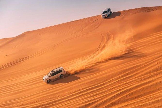 Dubai Desert safari 4x4 Dune Bashing, Sandboarding, Camel Riding, Bbq Dinner