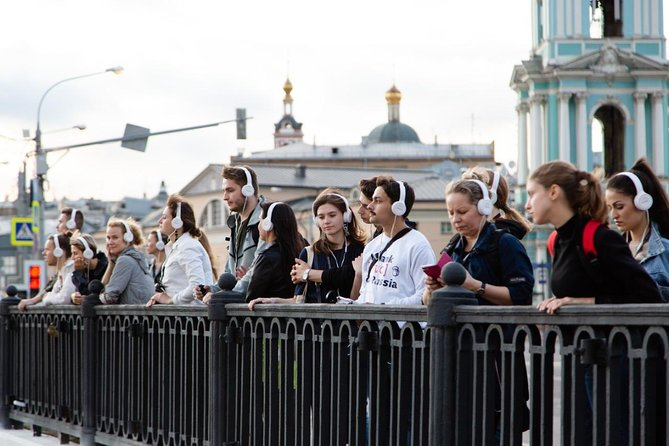 Unusual interactive historical audio performance around center of Moscow