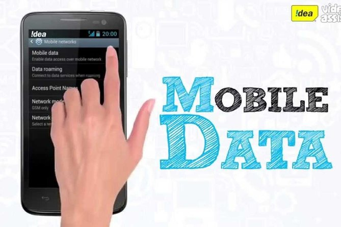 local Internet data for a mobile phone