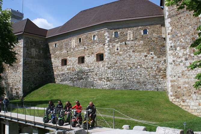 Ljubljana Castle Quick Tour With Electric Harley Scooter
