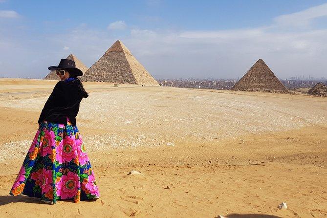 Giza Pyramids and Saqqara Step Pyramid