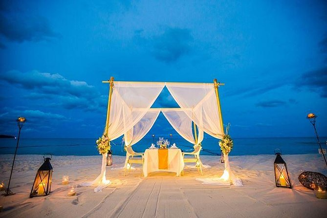 Romantic 4-Course Dinner for Two on the Beach by the Amari Samui