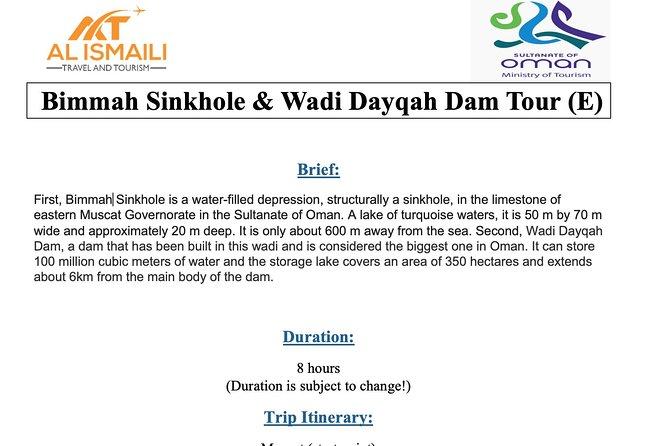 Bimmah Sinkhole & Wadi Dayqah Dam Tour