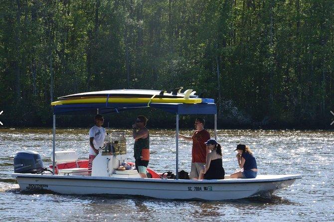 Begeleide paddleboard en boottocht door Sandy Island SC