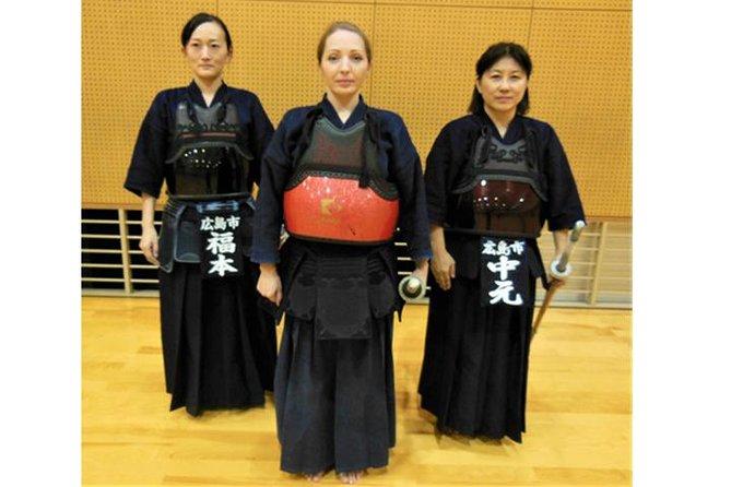 Kendo experience in Hiroshima city (Equipment Rental & TENUGUI towel present)