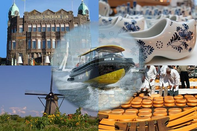 Holland Sightseeing Tour from Amsterdam Including Brunch: Delfts Blue Museum, Kinderdijk Windmills and Cheese Maker