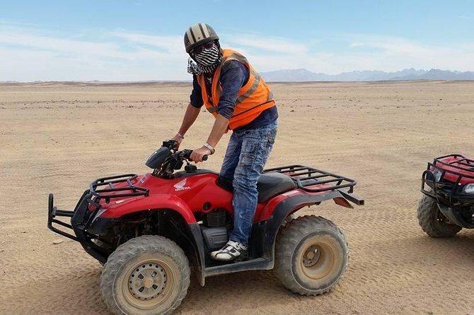 Half-Day Desert Quad Bike Safari to Bedouin Village from Hurghada