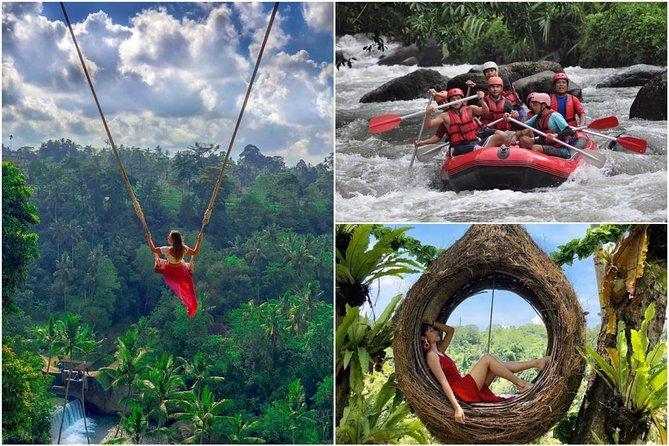 Bali Fun Combination : Bali Swing - White Water Rafting with All Inclusive