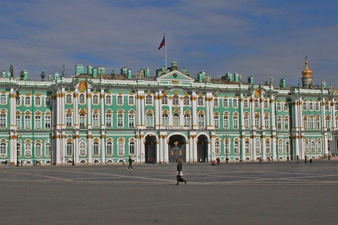 City tour of St. Petersburg with visit to the Hermitage Museum with transport